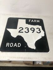Authentic Retired Texas Farm Road 2393 Highway Sign Clay County