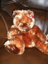"""TY Classic 2001 Baby Auburn Teddy Bear 10"""" Plush Seated Position with hang tag"""