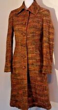 Guess by Marciano Women's Coat Size S Small Tweed Long Multi-Color 60s Inspired