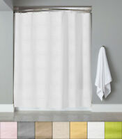 "Embossed Fabric Shower Curtain/Liner 70""x72"" Heartwood Hotel Collection"