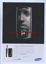 "Samsung E900 ""Imagine Seamless Beauty"" Mobile Phone 2006 Magazine Advert #3164"