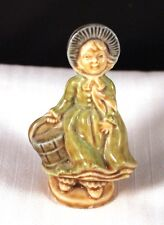 "Very Nice 3"" Small Ceramic Colonial Nursery Rhyme Style Woman [c4]"