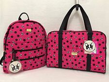LUV BETSEY JOHNSON Dogs WEEKENDER Duffle Bag Large BACKPACK Luggage SET Carry On