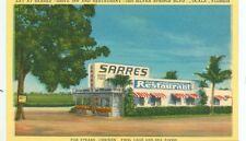 OCALA,FLORIDA-EAT AT SARRES' DRIVE INN & RESTAURANT-LINEN-(FLBOX-695*)