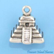 Mayan Maya Mesoamerican Pyramid 3D 925 Sterling Silver Charm Mexico MADE IN USA