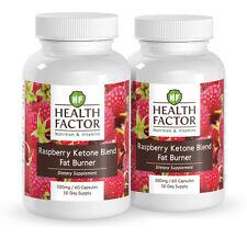 Health Factor Raspberry Ketone Blend, Fat Burner (2 Bottles, 2 Month Supply)