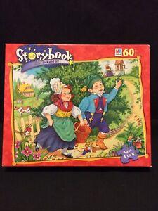 "1999 Milton Bradley Storybook 60 Piece Puzzle Jack and Jill 10 x 13"" Hasbro NIB"