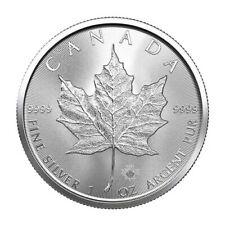 2021-1 oz. Canadian Silver Maple Leaf $5 Coin .9999 Fine Silver