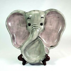 Dumbo Holland Mold Elephant Divided Catchall / Child's Plate Hand Painted Valet