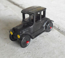 "Vintage 1970s Cast Iron Old Fashion Car 4"" Long"