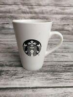 Starbucks 2015 Siren Logo White Black Ceramic Coffee Mug Cup Mermaid 16 Oz