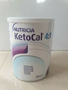Nutricia KetoCal 4:1 unflavoured powder 300g tin - NEW exp20/08/21