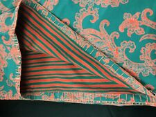"NWT John Robshaw TextilesRed/Green KELP Coverlet King 90""x108"" 100%Cotton"
