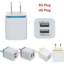 Universal 2 Port 2.1A Triple USB Wall Home Travel AC Charger Adapter US Plug HOT