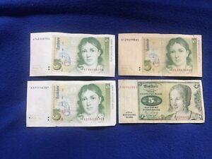 alte geldscheine 5 D-Mark