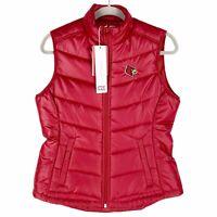 Louisville Cardinals UL Cutter & Buck Womens Puffer Puffy Vest Red Cards New