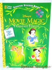 Ab1 Vintage Walt Disney Movie Magic Fairy Tale Forest Coloring Sticker Book 1997