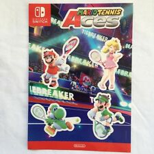 "Mario Tennis Aces stickers Promo Gamescom 2018 Nintendo Switch COLLECTIBLE ""NEW"""