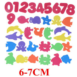 34Pcs Baby Bath Puzzles Foam Floating Toy Early learn EVA Animal Lette-PF