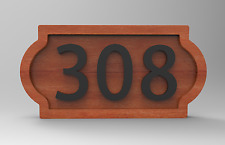House Number Sign Plaque Made to Order