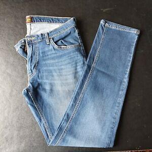 Men's Lee Daren Zip Fly Slim Jeans W34 L34 Navy Blue