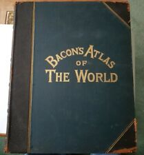 Bacon's Atlas of the World 1909 100 dbl page maps