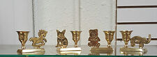 Set of Brass Bear,Horse, Bear and Elephant Candle Holder/Animal