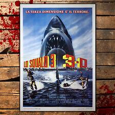 Manifesto Originale Lo Squalo 3 - Jaws 3  - Size: 100x140 CM - 3D Edition