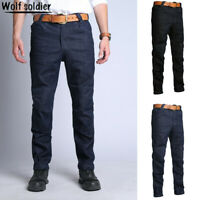 Mens Army Combat Pants Military Cargo Tactical Denim Jeans Urban Casual Trousers