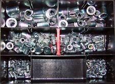 150 Stahl Blindnietmuttern Sortiment verzinkt Niet Flachkopf Blindnietmutter