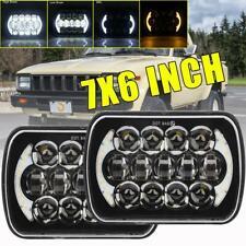 """2pcs 7x6"""" 5x7"""" LED Headlight 210W Halo DRL Turn Signal For Toyota Truck Pickup"""