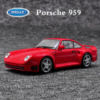 WELLY 1:24 Scale Red Porsche 959 Sports Car Model Boys Static Toys Collection
