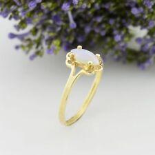 10k Yellow Gold Estate Fire Opal Ring Size 7