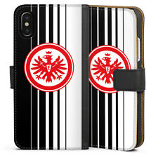 Apple iPhone x bolso funda flip case-eintracht frankfurt negro/blanco