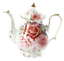 Fine Bone China Shabby Chic English Rose Teapot Home Decor Kitchen