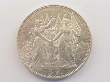 L1456       SCHWEIZ Schützentaler zu 5,- Franken 1876 Lausanne