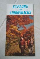 Vintage Explore The Adirondacks New York Visitor's Guide Maps Tourist