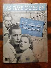 1931 As Time Goes By Vintage Sheet Music Casablanca Bogart, Bergman by Hupfeld