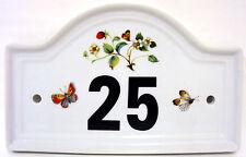 Fraises & Papillons Numéro De Porte De Maison Plaque N'importe Quel Nombre