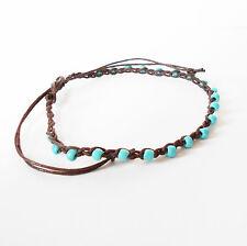 Turchese Cavigliera Con Perline Uncinetto braccialetto alla caviglia regolabile da donna adolescenti Surfer
