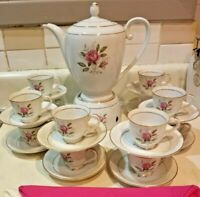 27 pc Tea Set Oneida coronation Fine China Amorous 102 Pink Rose Japan