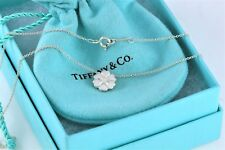 """Tiffany & Co. Picasso Silver Crown of Hearts Charm Pendant 16"""" Necklace w/ Pouch"""