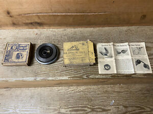 Victor original main spring & box + others