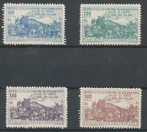 [P76] Vietnam 1956 Railway good set very fine no gum as issued value $190