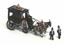 Langley Models Horse Drawn Hearse + Figures + coffin N Scale UNPAINTED Kit E48