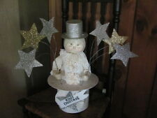 "RETIRED~ Bethany Lowe 18 1/2"" Merry Christmas Top Hat Snowman  Table Centerpiece"