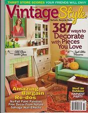 VINTAGE STYLE MAGAZINE Winter 2013, 387 Ways to Decorate with Pieces You Love.