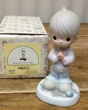 Precious Moments Figurine In Box Help Lord I'm in a Spot Ink Bottle Spill 100269