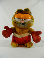 """Vintage/ Dakin/ Garfield Cat/ 1981/ Red Boxing Shorts& Gloves/9""""/Collectible"""