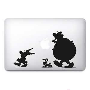 Asterix and Obelix Black Apple Macbook Stickers vinyl  Decals   Macbook Decals